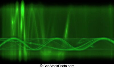 green impulse looping background - particle motion...