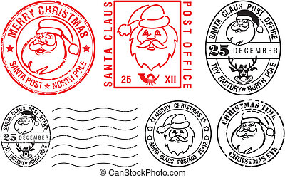 postmarks - merry christmas - christmas time, christmas card