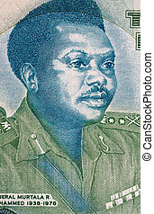 Murtala Mohammed (1938-1976) on 20 Naira 2003 Banknote from...