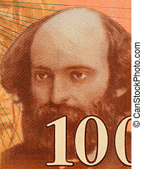 "Paul Cezanne (1839?€""1906) on 100 Francs 1997 Banknote from..."