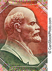 Lenin (1870-1924) on 500 Ruble 1992 Banknote from USSR....