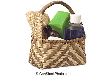 basket with products for personal hygiene