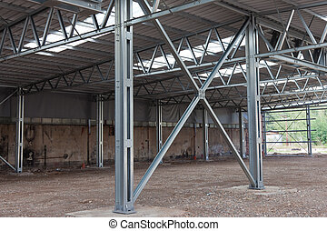 Steel frame structure - Cross bracing of steel structure