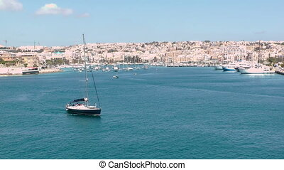Malta Harbor - The Grand Harbor in Valletta, Malta.