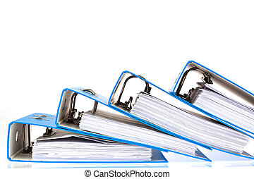 file folder with documents and documents - binder filled...