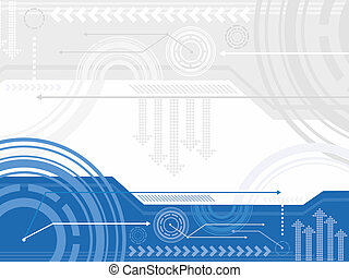 Technology background - Technology inspired background in...