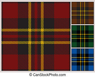 Seamless tartan pattern - Seamless pattern of a Scottish...