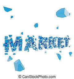 Broken market metaphor, smashed word explosion