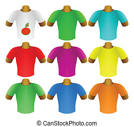 Multicolored T-shirts in a set