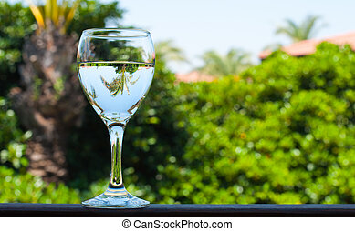 A glass of drinking water