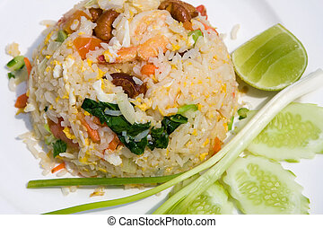 Seafood fried rice - delicious seafood fried rice with...