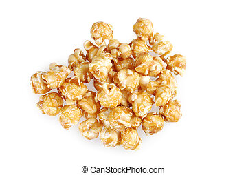 caramel candy popcorn - top view of caramel candy popcorn