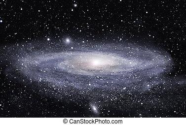 loin, galaxie