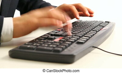 office man%u2019s hands typing