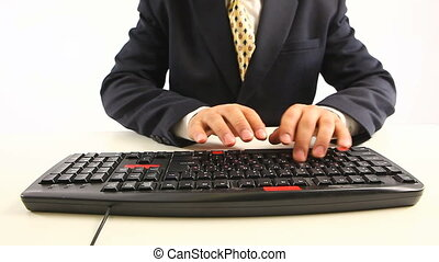 office man typing