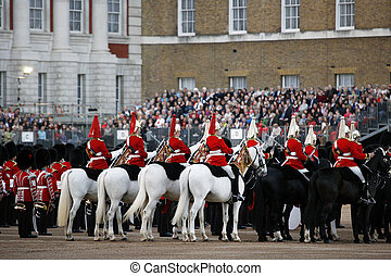 2012, Beating Retreat - LONDON - JUNE 13: Mounted Bands at...