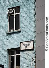 Street sign of Camden Town - Street sign of Camden...