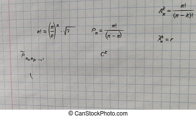 math formulas on squared paper