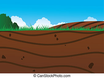 Under The Ground - An illustration of a view underneath the...