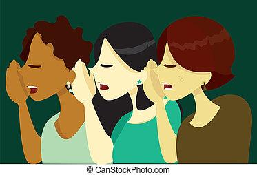 Women Gossiping_stock
