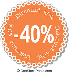 Discount forty percent