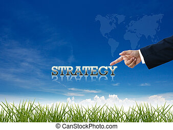 business wording - Attractive artwork of business wording on...