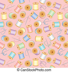 Seamless Background, Pastel Pink