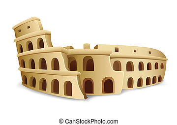 Roman Colosseum - illustration of model on Roman Colosseum...
