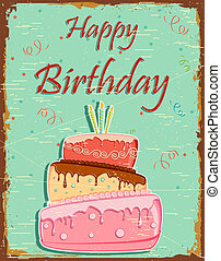Retro Happy Birthday