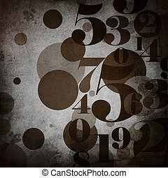 background in grunge style  with  numbers