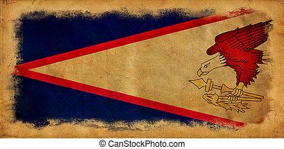 Samoa, americano,  grunge, bandiera