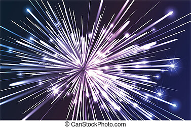 Fiber optic explosion - Abstract illustration showing a...