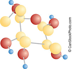 Molecular compound The chemical formula of glucose Vector...