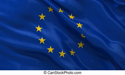 European Union flag seamless loop - Flag of the European...