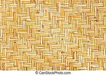 Palm leaves straws background - Weaved straws of palm leaves...