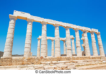 Greece Temple to the Gods - Greek Temple Ruins, Temple of...