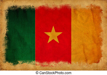 Cameroon grunge flag