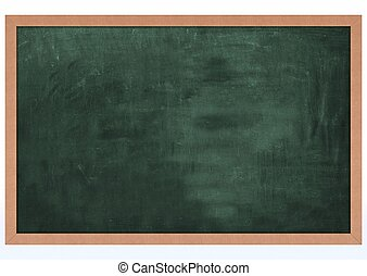 Blank Chalk Board - 3D Render of a Blank Chalk Board