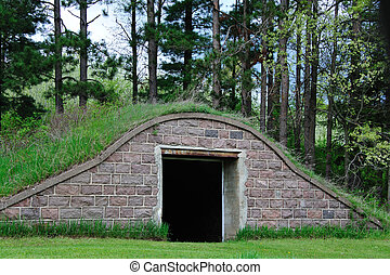Abandoned Root Cellar - Old Abandoned Root Cellar in...