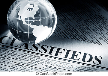 Classified Ad - Fake Classified Ad, newspaper, business...