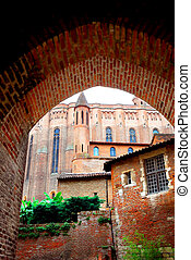Cathedral of Ste-Cecile in Albi France - View on Cathedral...