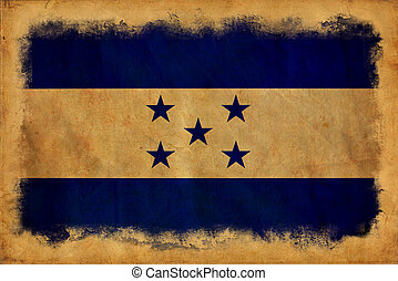 honduras, Grunge, bandera