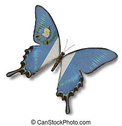 guatemala, bandera, mariposa