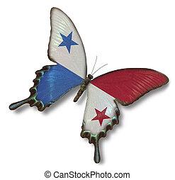 Panamá, bandera, mariposa