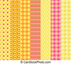 Set of simple seamless pattern 7
