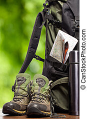 backpack and shoes backpackers