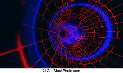 tunnel plasma blue red