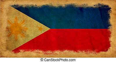 FILIPINAS, grunge, bandeira