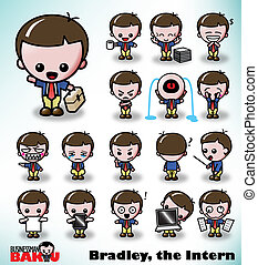 Bradley the Intern - Bradley, the Intern, in a variety of...