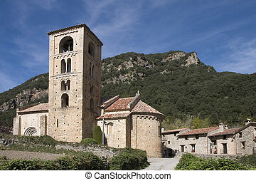 Beget, Catalonia, Spain - Church of Sant Cristofol 12th...